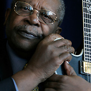 Sept. 12, 2005 - Blues legend B.B. King poses for a portrait at the National Press Club in Washington on Sept. 12, 2005. (Photograph by Jay Westcott)