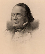 (Jean ) Louis (Rodolphe) Agassiz (1807-1873) Swiss-born American naturalist and glaciologist. From 'Louis Agassiz: His Life and Correspondence' by Elizabeth Cary Agassiz (Boston, 1885). Engraving.