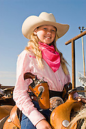 Young Cowgirl, Cowboy Mounted Shooting, Bozeman Montana
