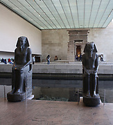Architecture of the Metropolitan Museum of Art.  Egyptian Art enclosure. Temple of Dendur.
