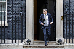 © Licensed to London News Pictures. 29/01/2019. London, UK. Conservative Chief Whip Julian Smith leaves 10 Downing Street after the Cabinet meeting, as Brexit negotiations continue. MPs will vote on a series of amendments this evening. Photo credit: Rob Pinney/LNP