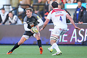 Newcastle Falcons Fly-half Toby Flood (10) in action  during the Aviva Premiership match between Newcastle Falcons and Leicester Tigers at Kingston Park, Newcastle, United Kingdom on 29 October 2017. Photo by Simon Davies.