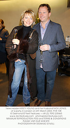 News reader KIRSTY YOUNG and her husband NICK JONES, at a party in London on 6th March 2003.	PHR 108