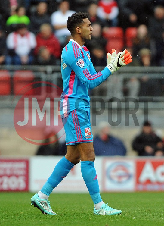 Swindon Town's Wes Foderingham - photo mandatory by-line David Purday JMP- Tel: Mobile 07966 386802 - 04/10/14 - Leyton Orient  v Swindon Town - SPORT - FOOTBALL - Sky Bet Leauge 1  - London -  Matchroom Stadium