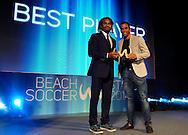 DUBAI, UNITED ARAB EMIRATES - NOVEMBER 08: Samsung Beach Soccer Intercontinental Cup 2014 at Dubai International Marine Club on November 08, 2014 in Dubai, United Arab Emirates. (Photo by Manuel Queimadelos Alonso)