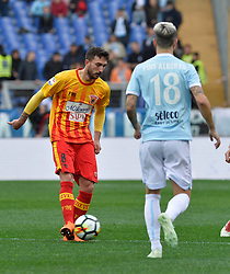 March 31, 2018 - Rome, Lazio, Italy - Danilo Cataldi during the Italian Serie A football match between S.S. Lazio and Benevento at the Olympic Stadium in Rome, on march 31, 2018. (Credit Image: © Silvia Lore/NurPhoto via ZUMA Press)