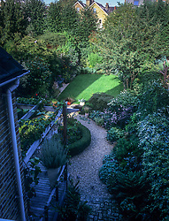 Sequence from an overhead fixed position showing the progression of sunlight and shade as it moves around the garden during the day. Position 6