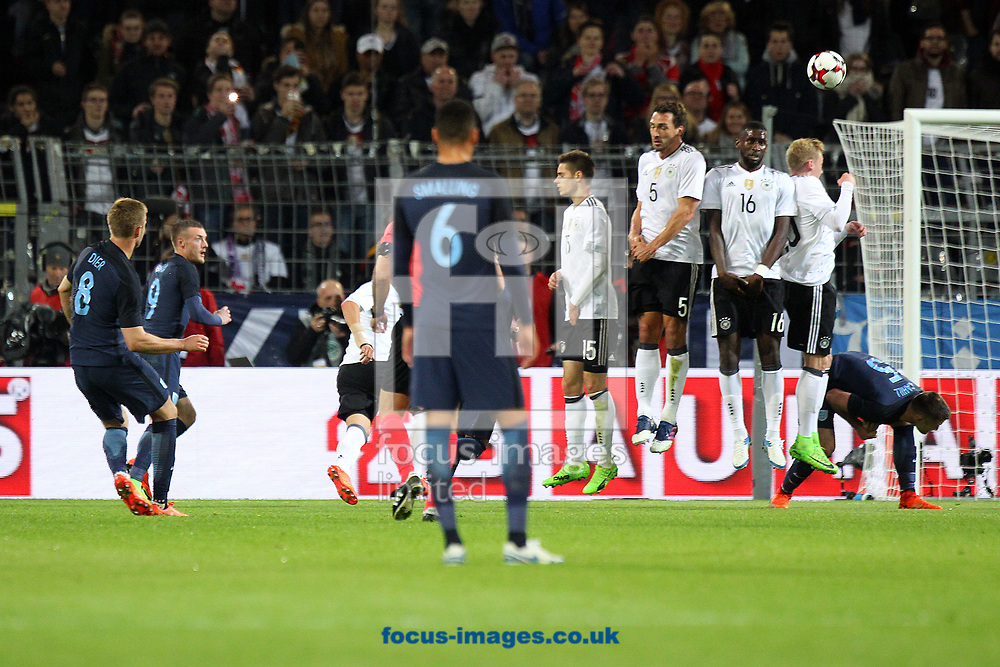 Eric Dier of England has a shot on goal from a free kick during the International Friendly match at Signal Iduna Park, Dortmund<br /> Picture by Paul Chesterton/Focus Images Ltd +44 7904 640267<br /> 22/03/2017