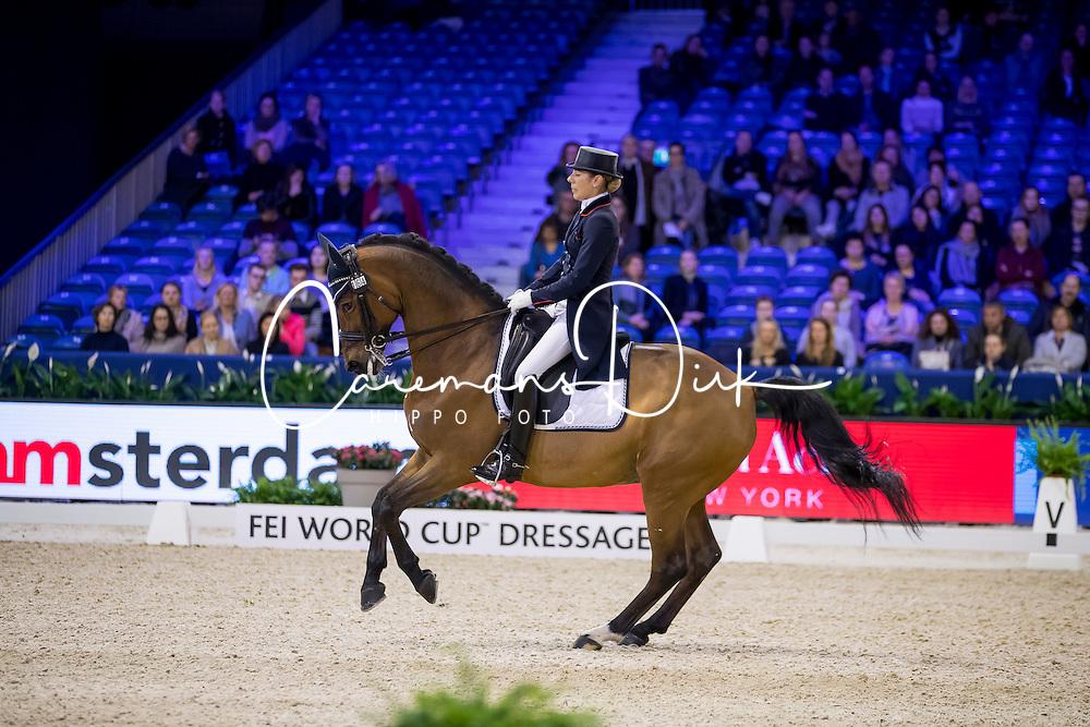 Brieussel Stephanie, FRA, Amorak<br /> FEI World Cup Dressage - Grand Prix<br /> Jumping Amsterdam 2017<br /> &copy; Hippo Foto - Leanjo de Koster<br /> 27/01/17