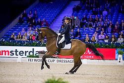 Brieussel Stephanie, FRA, Amorak<br /> FEI World Cup Dressage - Grand Prix<br /> Jumping Amsterdam 2017<br /> © Hippo Foto - Leanjo de Koster<br /> 27/01/17