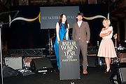 ROKSANDA ILICIC; ALEX JAMES; MARIELA FROSTRU, Harpers Bazaar Women of the Year Awards. North Audley St. London. 1 November 2010. -DO NOT ARCHIVE-© Copyright Photograph by Dafydd Jones. 248 Clapham Rd. London SW9 0PZ. Tel 0207 820 0771. www.dafjones.com.