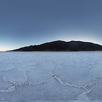 Panorama of the Salt Flats at Badwater. Death Valley National Monument.