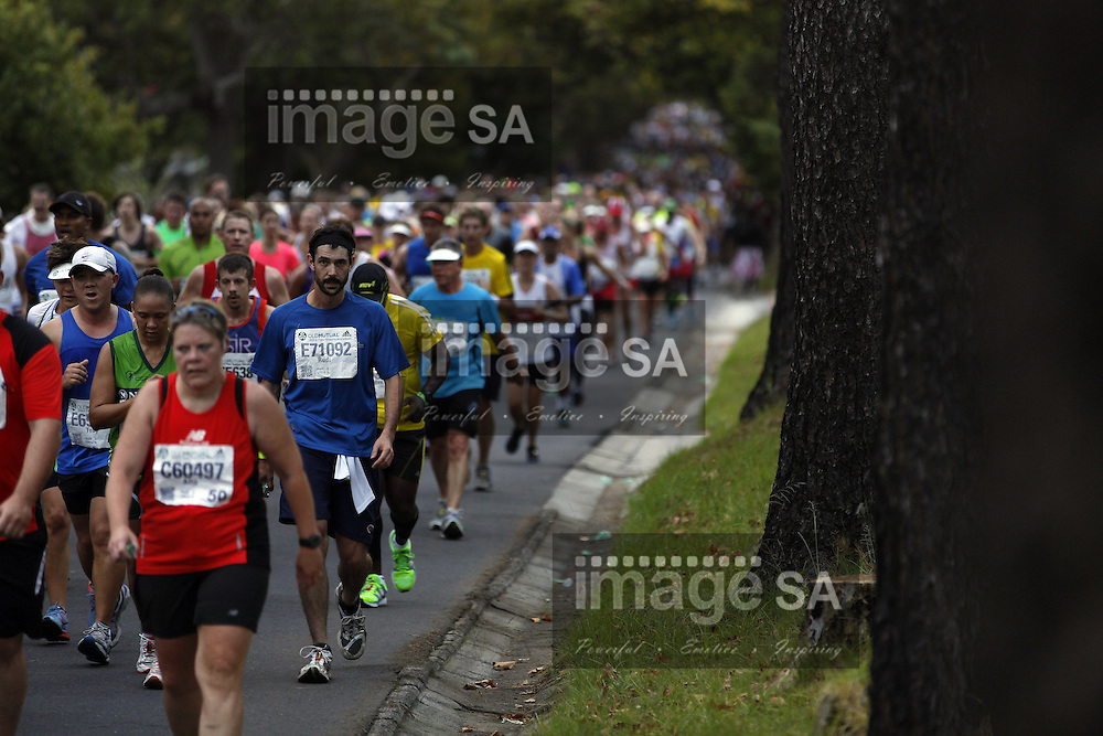 CAPE TOWN, South Africa - Saturday 30 March 2013, Runners during the half marathon of the Old Mutual Two Oceans Marathon. .Photo by Nick Muzik/ ImageSA