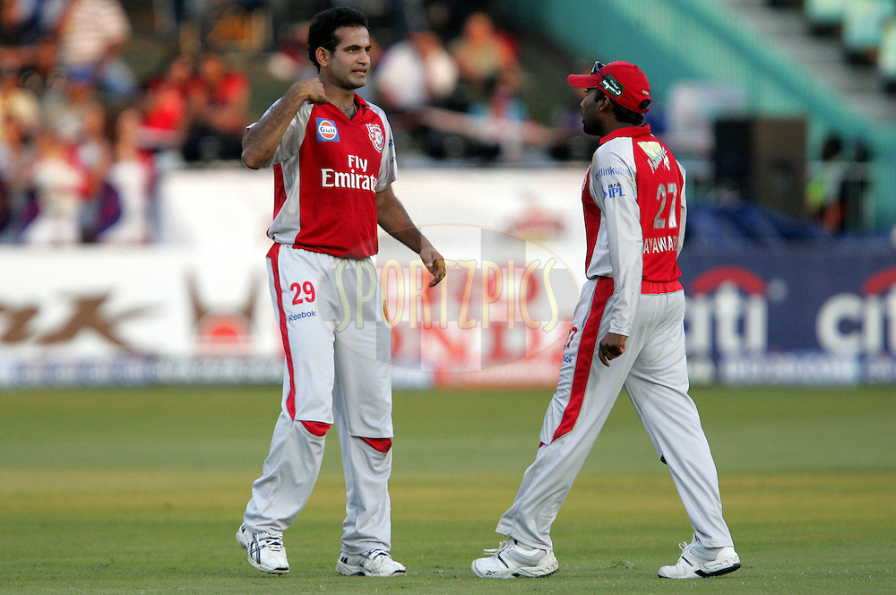 DURBAN, SOUTH AFRICA - 24 April 2009. Irfan Pathan during the IPL Season 2 match between the Royal Challengers Bangalore and the Kings X1 Punjab held at Sahara Stadium Kingsmead, Durban, South Africa..