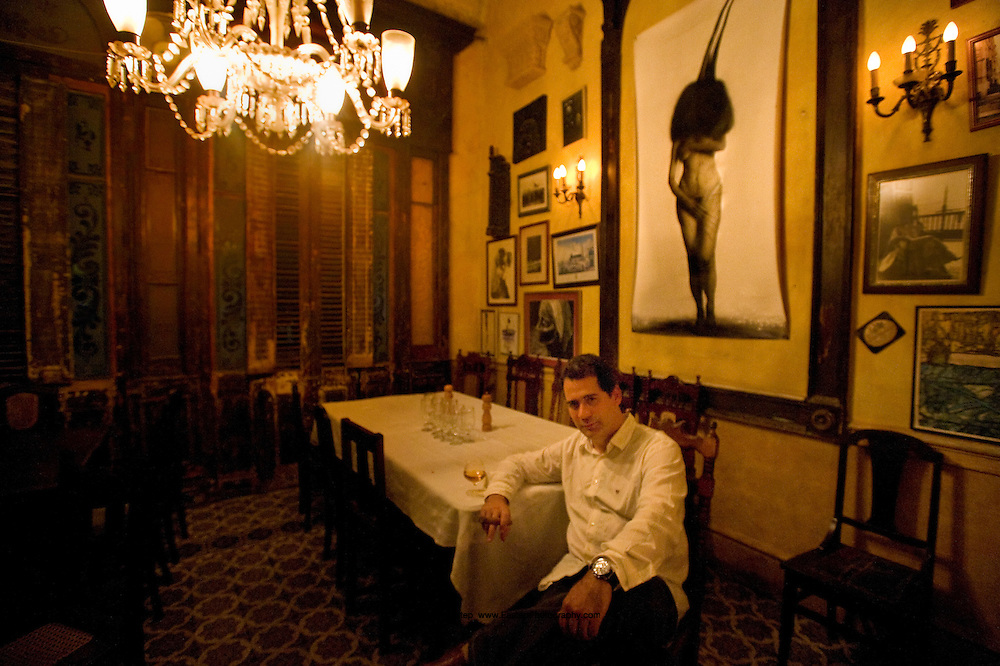 Enrique Nunez del Valle, owner of La Guarida, a world renowned restaurant in an 18th century townhouse in Central Havana. It was the location of the 1995 Oscar nominated film Fresa y Chocolate.