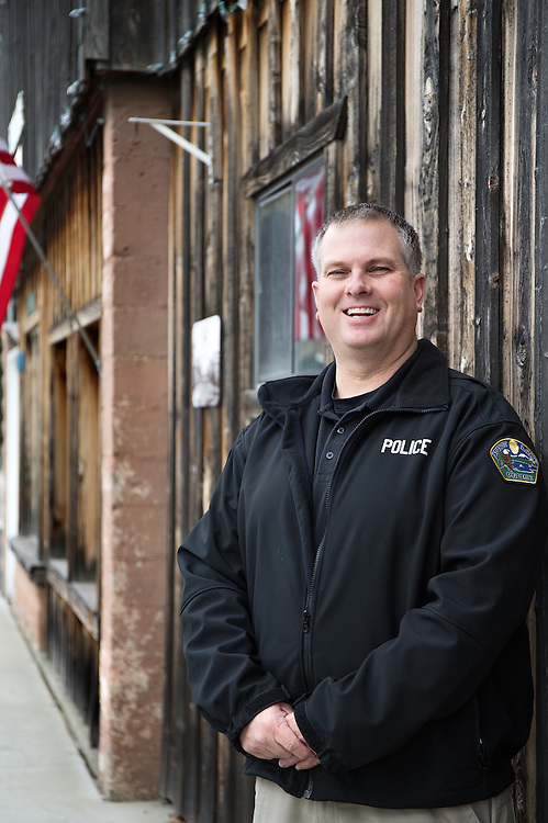 GABE GREEN/Press<br /> <br /> Keith Hutchens was appointed as Spirit Lake&rsquo;s chief of police and began his new job Monday, March 10.