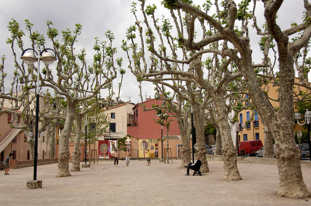 Square in Collioure, France