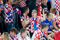 Croatian fans during basketball match between National teams of Croatia and Italy in 2nd Round at Day 11 of Eurobasket 2013 on September 14, 2013 in SRC Stozice, Ljubljana, Slovenia. (Photo By Urban Urbanc / Sportida)