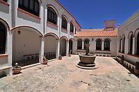 Hotel courtyard in Potosi, Bolivia