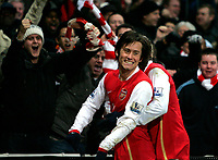 Photo: Tom Dulat/Sportsbeat Images.<br /> <br /> Arsenal v Wigan Athletic. The FA Barclays Premiership. 24/11/2007.<br /> <br /> Arsenal's Tomas Rosicky celebrates his goal for the team. Arsenal leads 2-0