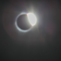 View of 2017 Solar Eclipse from Wheatland, Wyoming