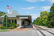 A perfect summer day at the Southern Pines Train Station.