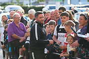Bristol City manager Lee Johnson arrives at Pride Park Stadium during the EFL Sky Bet Championship match between Derby County and Bristol City at the Pride Park, Derby, England on 20 August 2019.