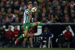 February 28, 2019 - Valencia, Valencia, Spain - Sergio Canales of Betis controls the ball during the Copa del Rey Semi Final match second leg between Valencia CF and Real Betis Balompie at Mestalla Stadium in Valencia, Spain on February 28, 2019. (Credit Image: © Jose Breton/NurPhoto via ZUMA Press)