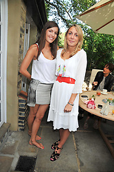 Left to right, AMANDA SHEPPARD and CAMILLA STOPFORD-SACKVILLE at an Indian Tea Party for fashion label Saloni, held at The Coach House, Debenham House, 8 Addison Road, London W14 on 14th July 2009.