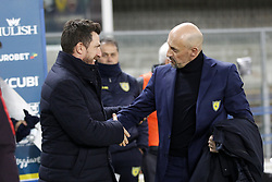 February 8, 2019 - Verona, Italia - Foto Paola Garbuio/LaPresse.08 febbraio 2019 Verona, Italia.sport.calcio.Chievo Verona  vs Roma- Campionato di calcio Serie A TIM 2018/2019 - stadio Bentegodi.Nella foto: di francesco,di carlo..Photo Paola Garbuio/LaPresse.february  08, 2019 Verona, Italy.sport.soccer.Chievo Verona  vs Roma  - Italian Football Championship League A TIM 2018/2019 -  stadio Bentegodi..In the pic:di francesco,di carlo (Credit Image: © Paola Garbuio/Lapresse via ZUMA Press)