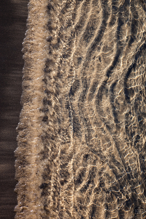 """Lake Tahoe Sand 2"" - This sandy shoreline was photographed at Kings Beach, Lake Tahoe."