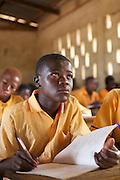 Students learning in a classroom at Wungu School, Ghana.