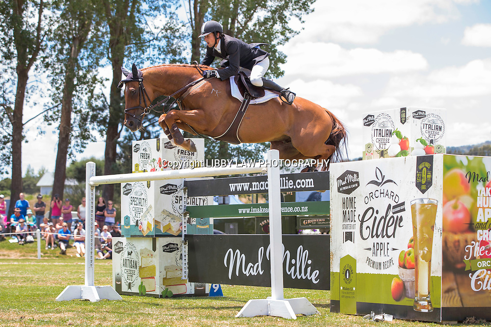 NZL-Jesse Linton (STRATHCARRON ZAURAK) IMAKE Ultra.Mox World Cup Final: 2015 NZL-IMAKE Showjumping Waitemata World Cup - Woodhill Sands (Sunday 11 January) CREDIT: Libby Law/www.photosport.co.nz