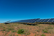 Completed rows of solar panels for the Solar Park
