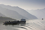 Transportation of coal by boat in Three Gorges area, Yangtze River, China