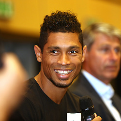 June 27, 2017 - Ostrava, Czech Republic - Sprinter Wayde van Niekerk (South Africa) attends the press conference prior to the Golden Spike Ostrava athletic meeting in Ostrava, Czech Republic, on June 27, 2017. (Credit Image: © Petr Sznapka/CTK via ZUMA Press)