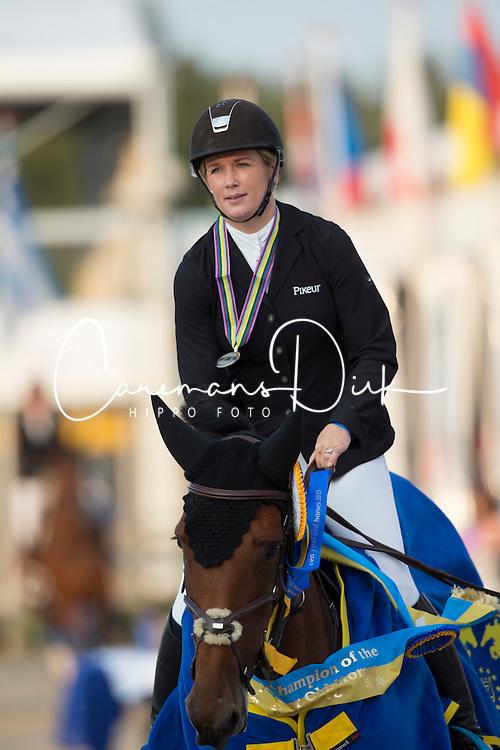 Renwick Laura, (GBR), MHS Washington<br /> Final 7 years old horses<br /> FEI World Breeding Jumping Championship <br /> Lanaken - Zangersheide 2015<br /> © Hippo Foto - Dirk Caremans<br /> 20/09/15