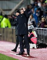 Football - 2019 / 2020 William Hill Scottish Cup - Quarter-Final: Heart of Midlothian vs. Rangers<br /> <br /> Rangers manager Steven Gerrard, at Tynecastle Park, Edinburgh.<br /> <br /> COLORSPORT/BRUCE WHITE