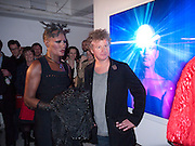 GRACE JONES; CHRIS LEVINE, Stillness at the Speed of Light exhibition. Chris Levine series of  portraits of  Grace Jones.  VINYL FACTORY. POLAND ST. LONDON. 29 APRIL 2010 *** Local Caption *** -DO NOT ARCHIVE-&copy; Copyright Photograph by Dafydd Jones. 248 Clapham Rd. London SW9 0PZ. Tel 0207 820 0771. www.dafjones.com.<br /> GRACE JONES; CHRIS LEVINE, Stillness at the Speed of Light exhibition. Chris Levine series of  portraits of  Grace Jones.  VINYL FACTORY. POLAND ST. LONDON. 29 APRIL 2010