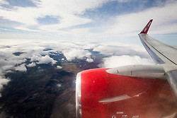 Image from a Jet2.com flight heading back to Glasgow Airport, Scotland.