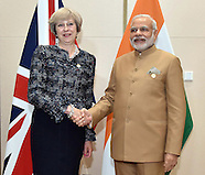 British PM Theresa May Meets Indian PM Modi - G20