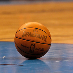 Jun 12, 2012; Oklahoma City, OK, USA; A ball sits on the floor during the fourth quarter of game one in the 2012 NBA Finals between the Oklahoma City Thunder and the Miami Heat at the Chesapeake Energy Arena. The Thunder defeated the Heat  105-94. Mandatory Credit: Derick E. Hingle-US PRESSWIRE
