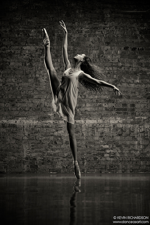 Dance As Art Studio Black and White Dance Photography Series with dancer Anna Melo