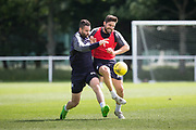 Dundee&rsquo;s Kostadin Gadzhalov and Marcus Haber -  Dundee FC - Pre-season training at University Grounds, Riverside, Dundee, Photo: David Young<br /> <br />  - &copy; David Young - www.davidyoungphoto.co.uk - email: davidyoungphoto@gmail.com
