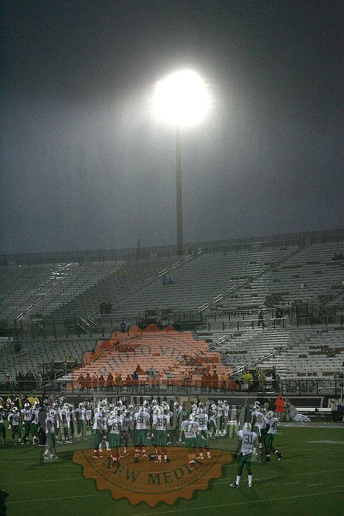 Rainfall totalling approximately 6 inches has fallen prior to an NCAA football game between the Marshall Thundering Herd and the Central Florida Knights at Bright House Networks Stadium on Saturday, October 8, 2011 in Orlando, Florida. Thunderstorms are expected for this evenings game.(Photo/Alex Menendez)