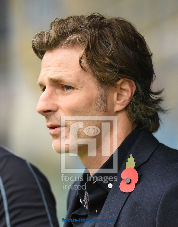 Gareth Ainsworth Manager of Wycombe Wanderers during the FA Cup match at Shay Stadium, Halifax<br /> Picture by Richard Land/Focus Images Ltd +44 7713 507003<br /> 08/11/2015