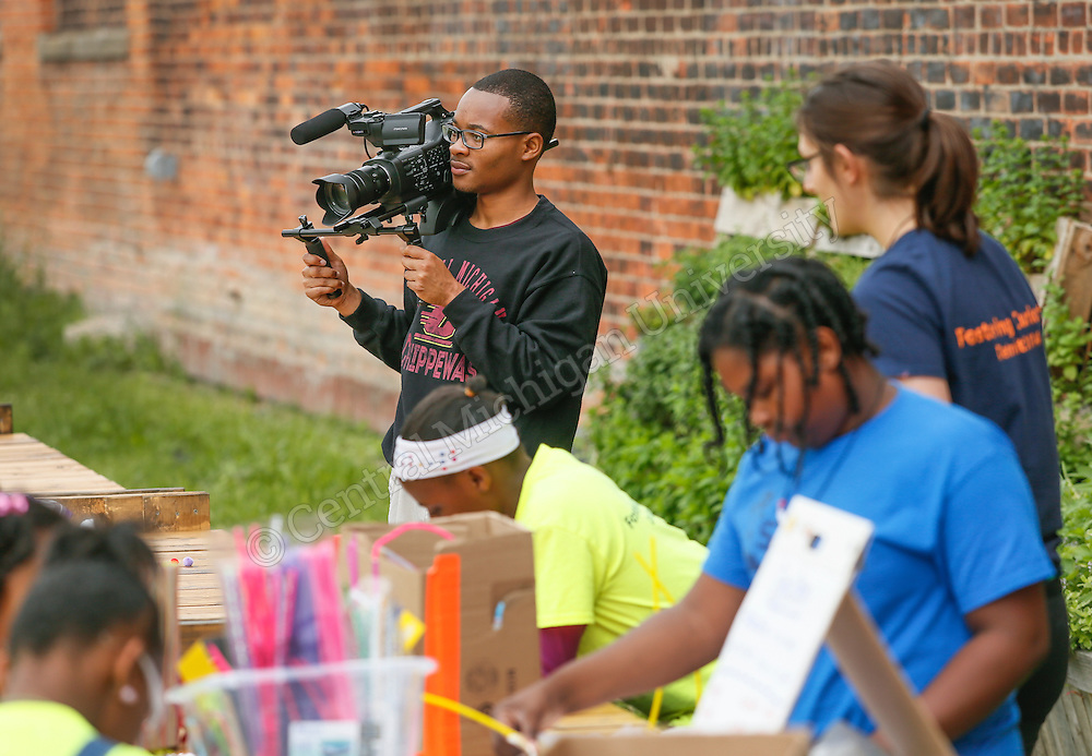 CMED Student Madeline Palmer started a STEM camp in Detroit for girls. Photos by Steve Jessmore/Central Michigan University