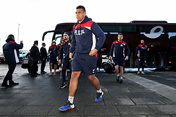 Ben Glynn of Bristol Rugby arrives at the AJ Bell Stadium - Rogan Thomson/JMP - 01/01/2017 - RUGBY UNION - AJ Bell Stadium - Manchester, England - Sale Sharks v Bristol Rugby - Aviva Premiership New Year's Day Fixture.