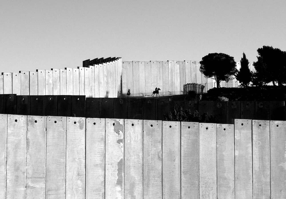 The wall in Abu Dis, West Bank.<br /> Photos from the building of the israel so called security barrier that cuts through the Palestinian village of Abu Dis.<br /> Photo by Ola Torkelsson<br /> Copyright Ola Torkelsson &copy;