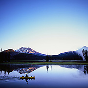 Kayaker on Sparks Lake Bend Oregon